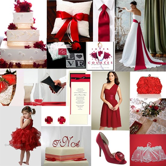 wedding ideas in red brideindream modern wedding theme ideas 28223