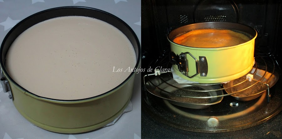 Horneando la cheesecake o tarta de queso