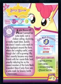 MLP Apple Bloom Series 2 Trading Card