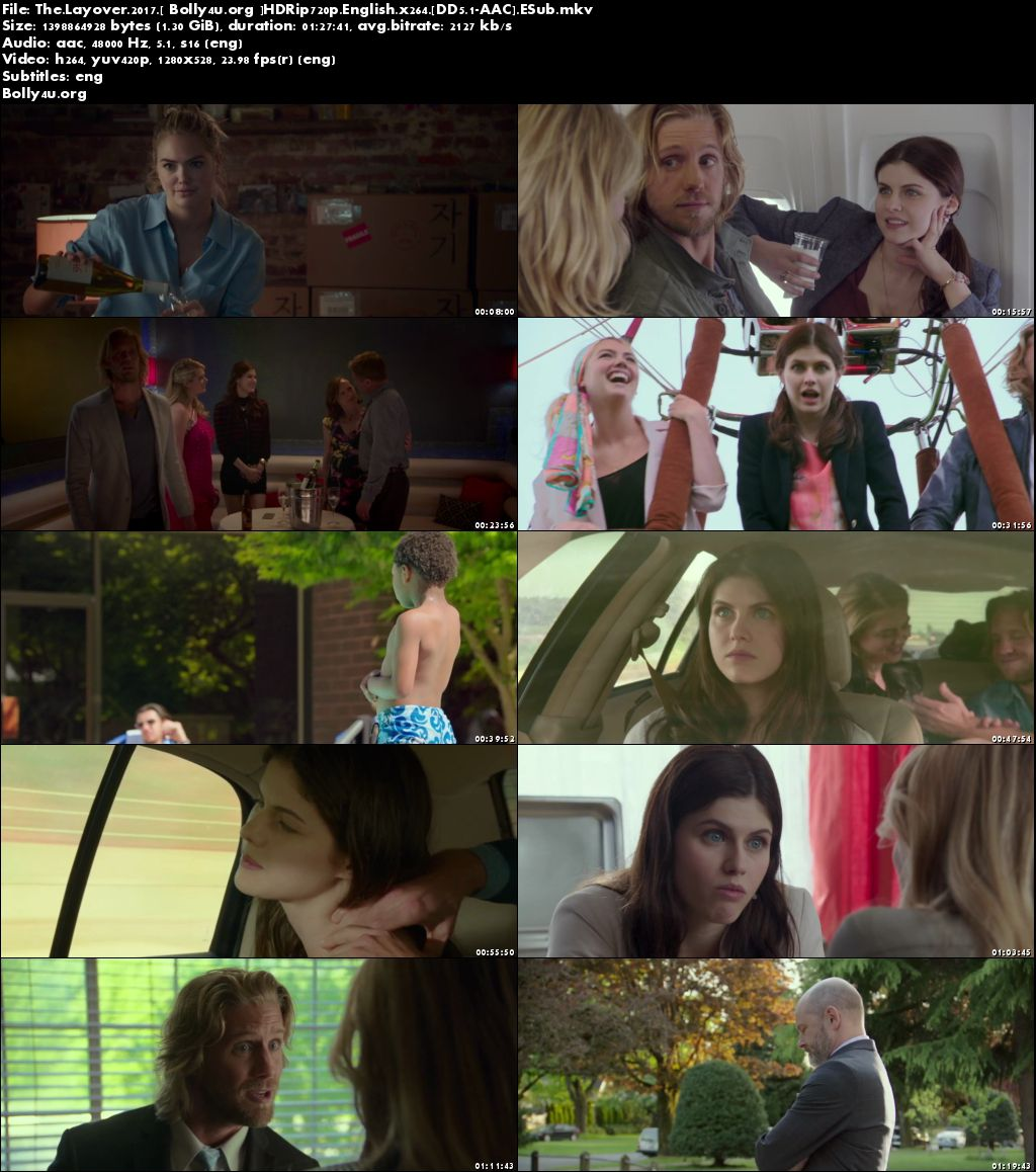 The Layover 2017 HDRip 250Mb Full English Movie Download 480p