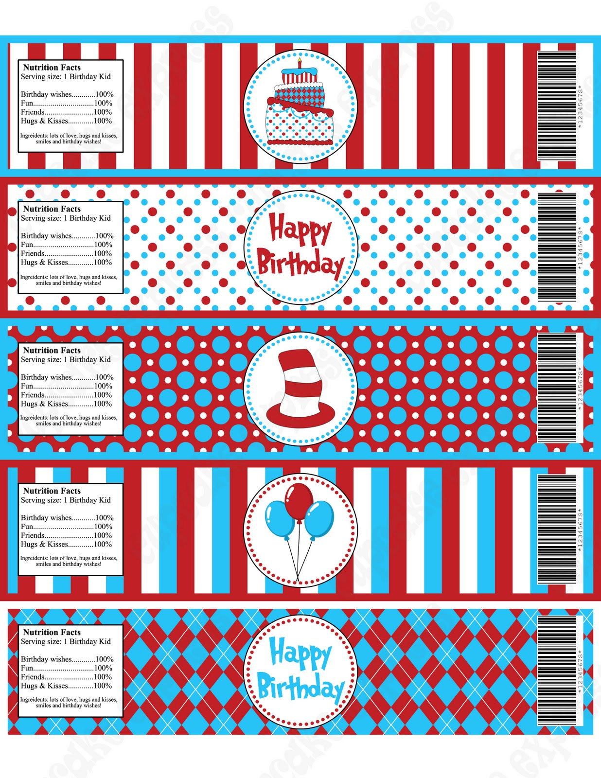 Cupcake Express New Dr Seuss Inspired Deluxe Package