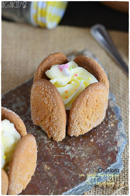 Charlota con sweet merengue Buttercream