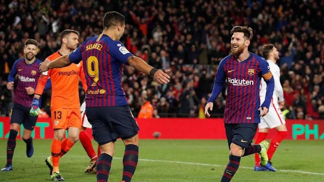 Hasil Copa del Rey: Gilas Sevilla 6-1, Barcelona ke Semifinal