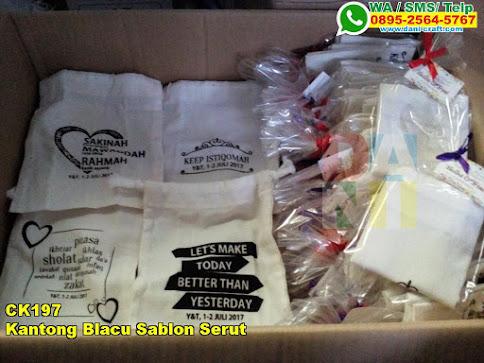 Toko Kantong Blacu Sablon Serut