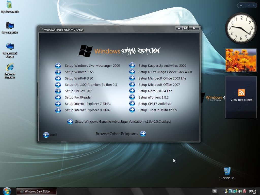 WINDOWS XP SP3 DARK EDITION v7 | ALL EDITION INFORMATION ...