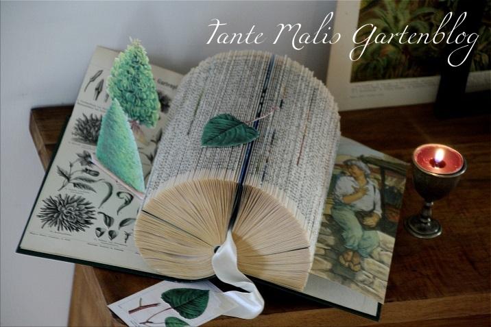 4cfa9091e551 Ein Buch als Garten - Bücherfalten DIY
