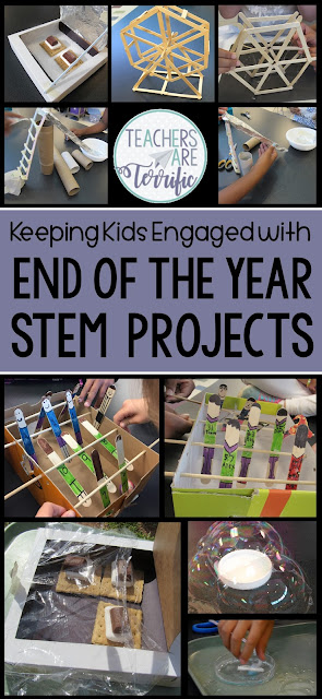 Highly engaging and fun ideas to end your school year with meaningful work. This post includes six resources that will keep your kids working together and enjoying the last few weeks of school as they complete a STEM challenge or two and maybe an end of the year memory flip book. The challenges are kid favorites, easy to prepare, and one of them is a free resource! The little Flipper booklet is fun to complete and will have students looking back on their great year!