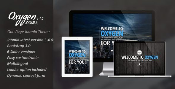 Oxygen One Page Parallax Joomla Template