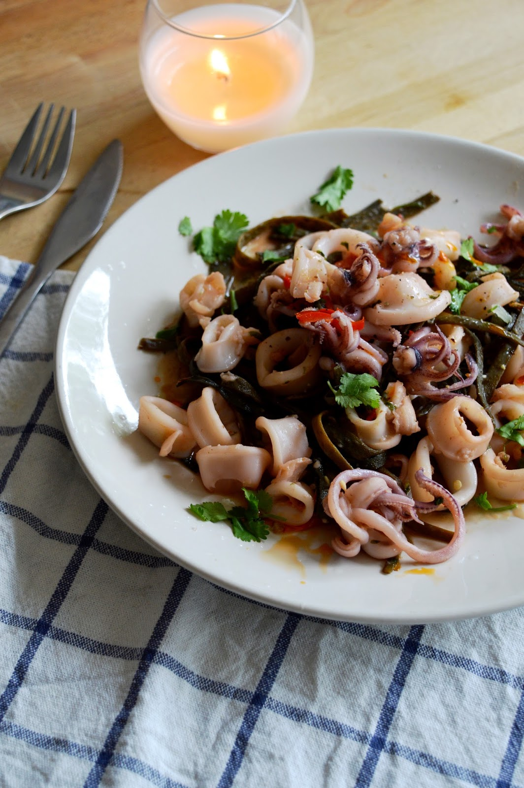 I Sea Pasta review, squid and seaweed pasta recipe, UK food blog, food bloggers