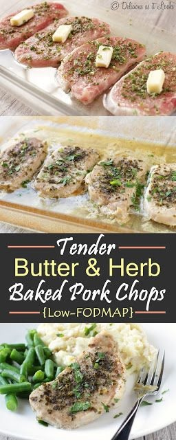 Tender Butter and Herb Baked Pork Chops