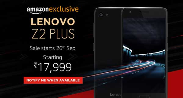 "2016 Lenovo Z2 Plus with 3/4GB RAM, 5"" display, and VoLTE has launched in India"