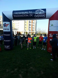 The start of my American Odyssey relay running race.