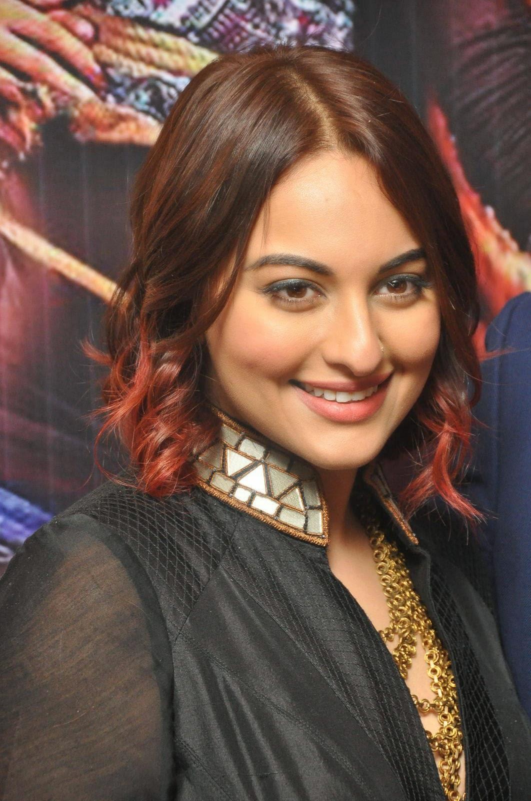 Sonakshi Sinha Latest Photos In Black Dress At Tevar Movie -7499