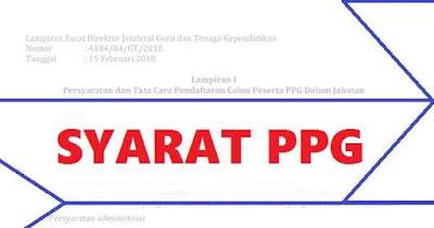 Syarat PPG 2018