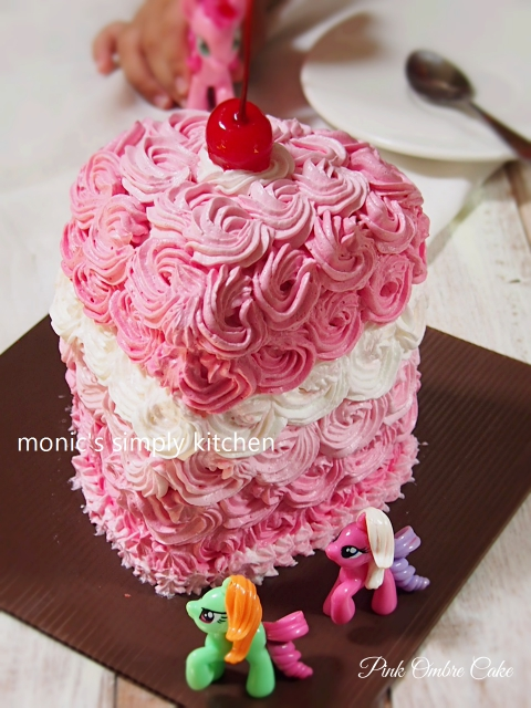 ombre cake kukus pink