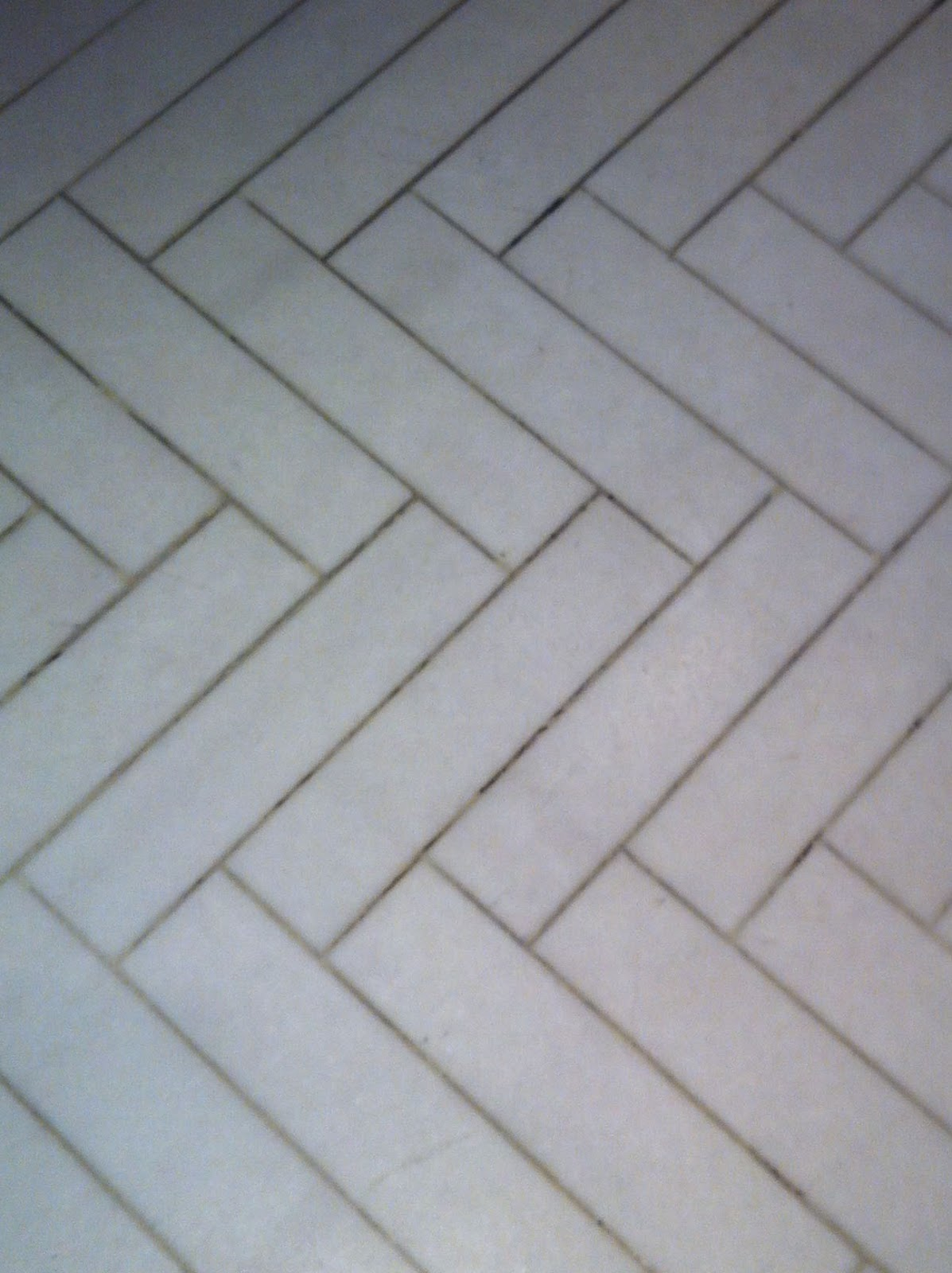 Herringbone Pattern Tile Floor