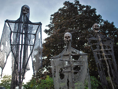 You Can Even Make Some Creepy Skeleton In Your Front Yard With Wasted Cloth Sticks