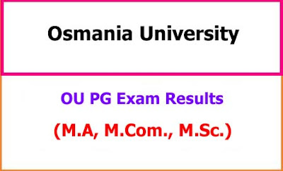 Osmania University PG Results