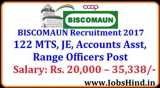 BISCOMAUN Recruitment 2017