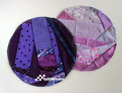 purple scrap circles