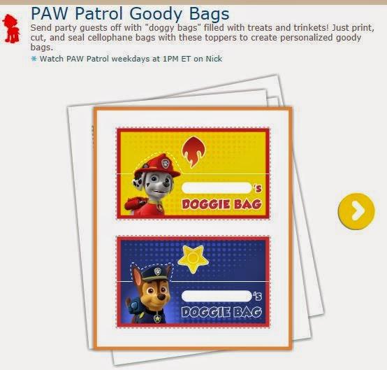 Bolsa para Golosinas de Paw Patrol o Patrulla Canina.
