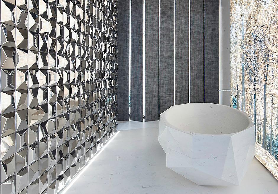 Revestimento metalizado para paredes