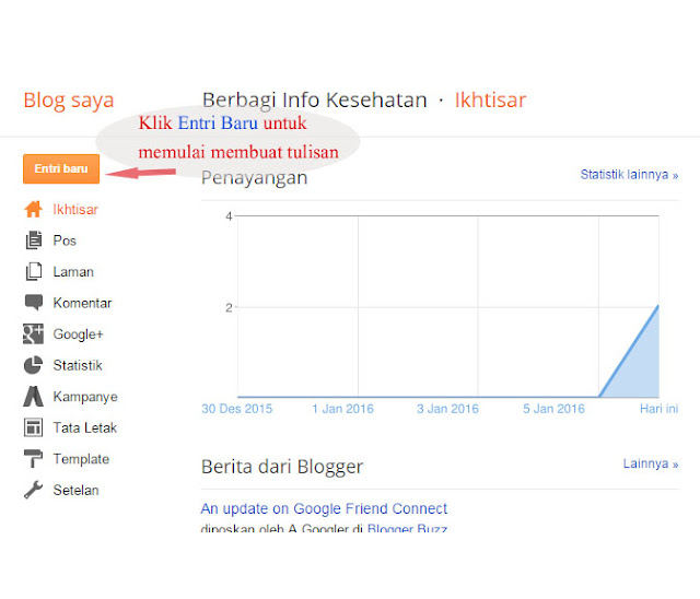 Cara Membuat Blog Dengan Mudah Dari Awal | Blogger
