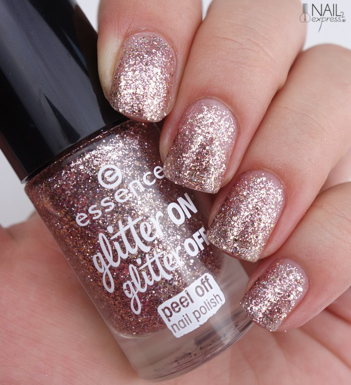 Essence-02 Razzle Dazzle_Glitter on glitter off_swatch