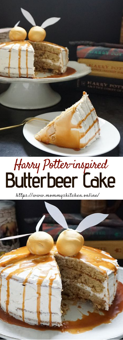 Harry Potter-inspired butterbeer cake #dessertideas #cake