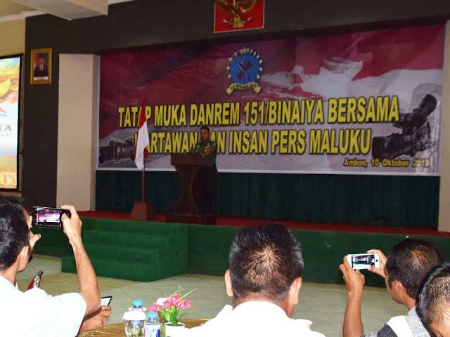 Hartono Silahturahmi dengan Wartawan di Kota Ambon