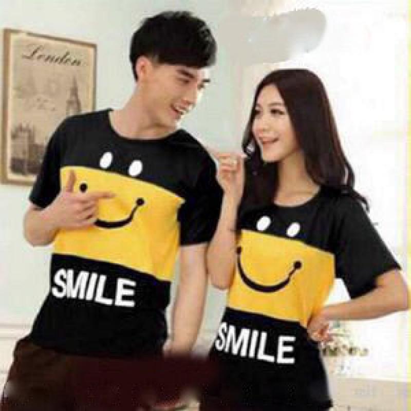 Jual Online Smile Yellow Murah Jakarta Bahan Combed Terbaru