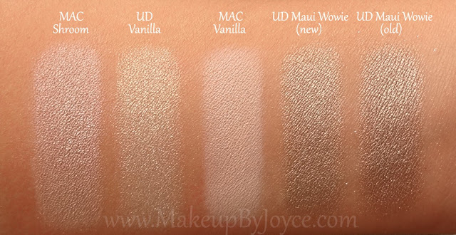 MakeupByJoyce ** !: Swatches + Comparison: Urban Decay New ...