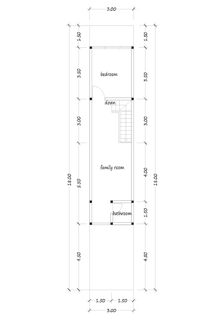 2nd floor plan of narrow house 04