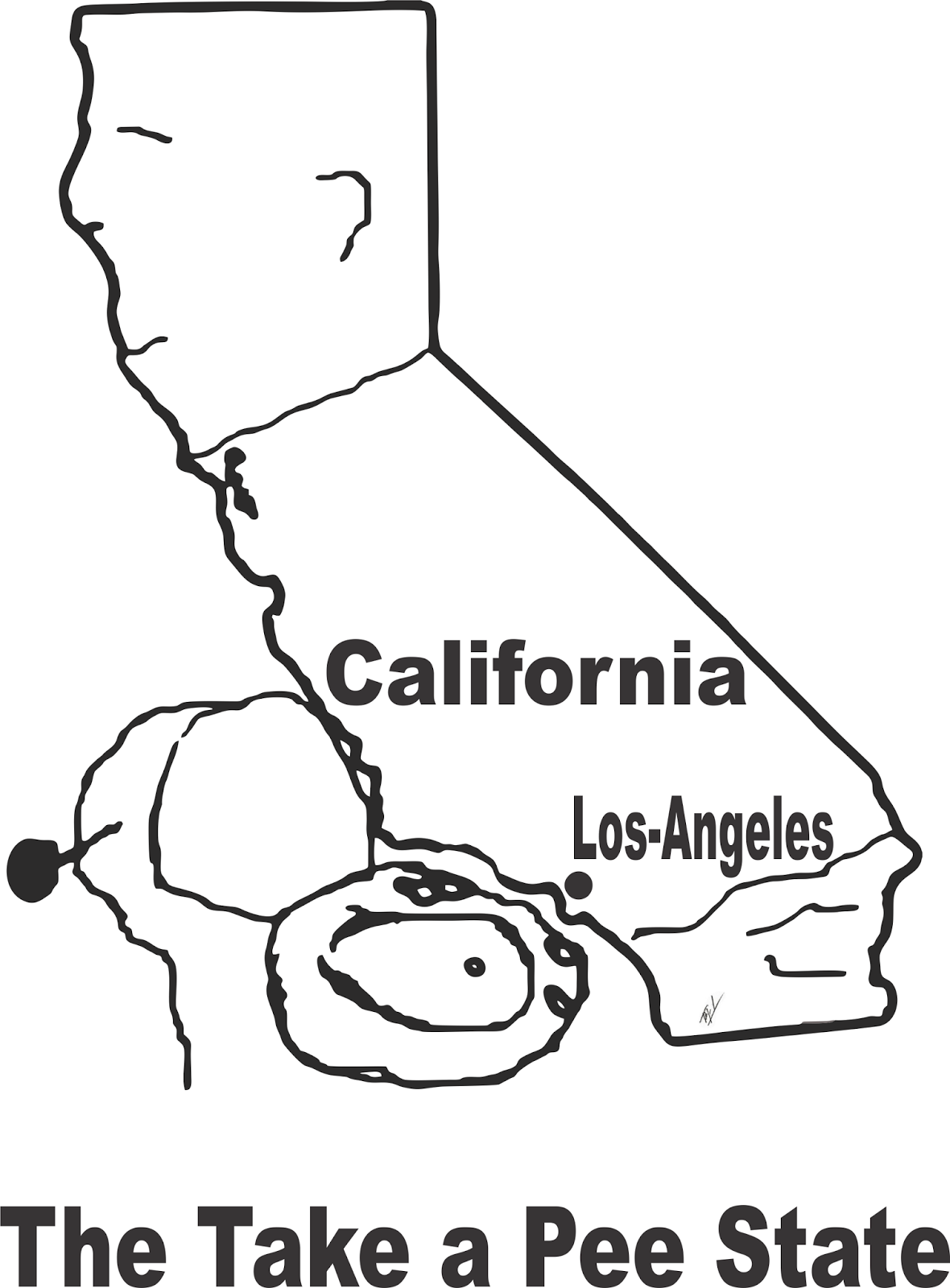 Map Of California Funny.Funny Maps A Funny Map Of California