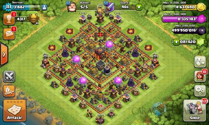 Desain Base Pertahanan Terbaik Untuk Base War TH 10 Update Terbaru 28
