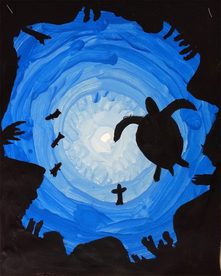 Mr. O\'s Art Room: 3rd Grade Underwater Color Values