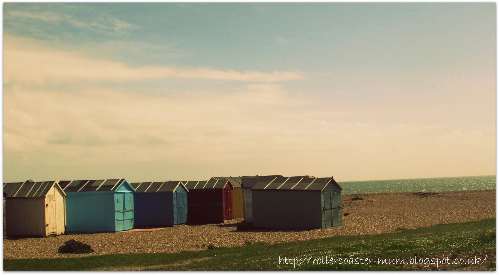 colourful Beach huts Hayling Island