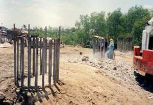 Different types of pile driving equipment