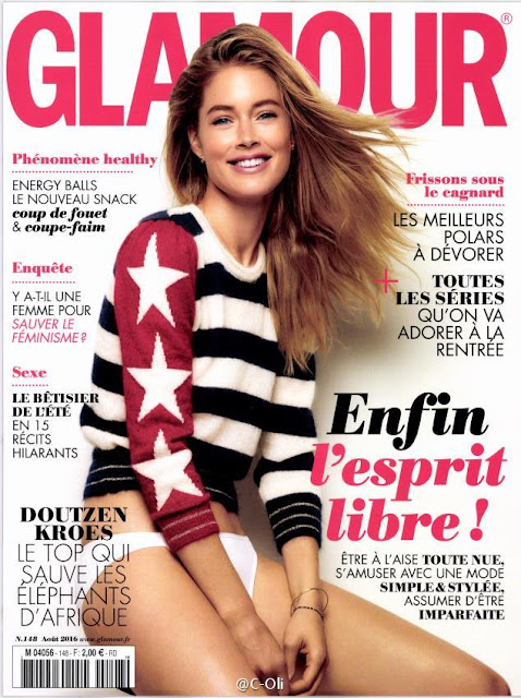 Actress, Model, @ Doutzen Kroes - Glamour France August 2016