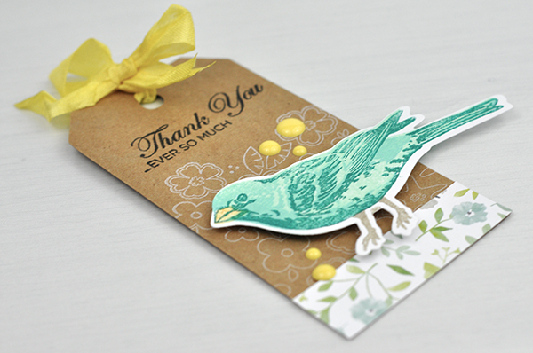 Close to My Heart: Stamped Bird Tag