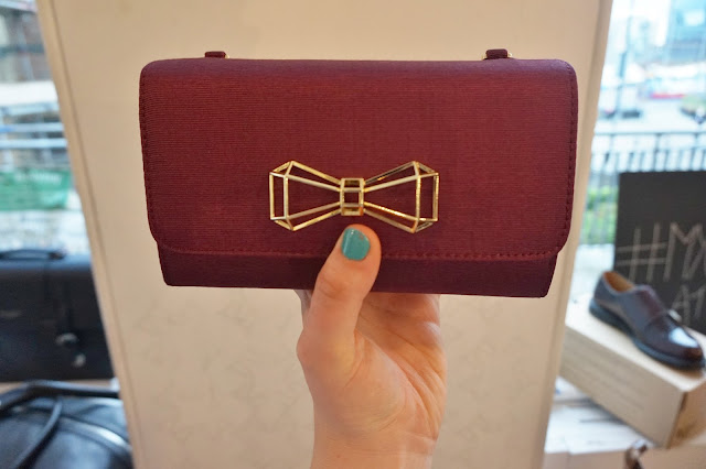 red purse with bow