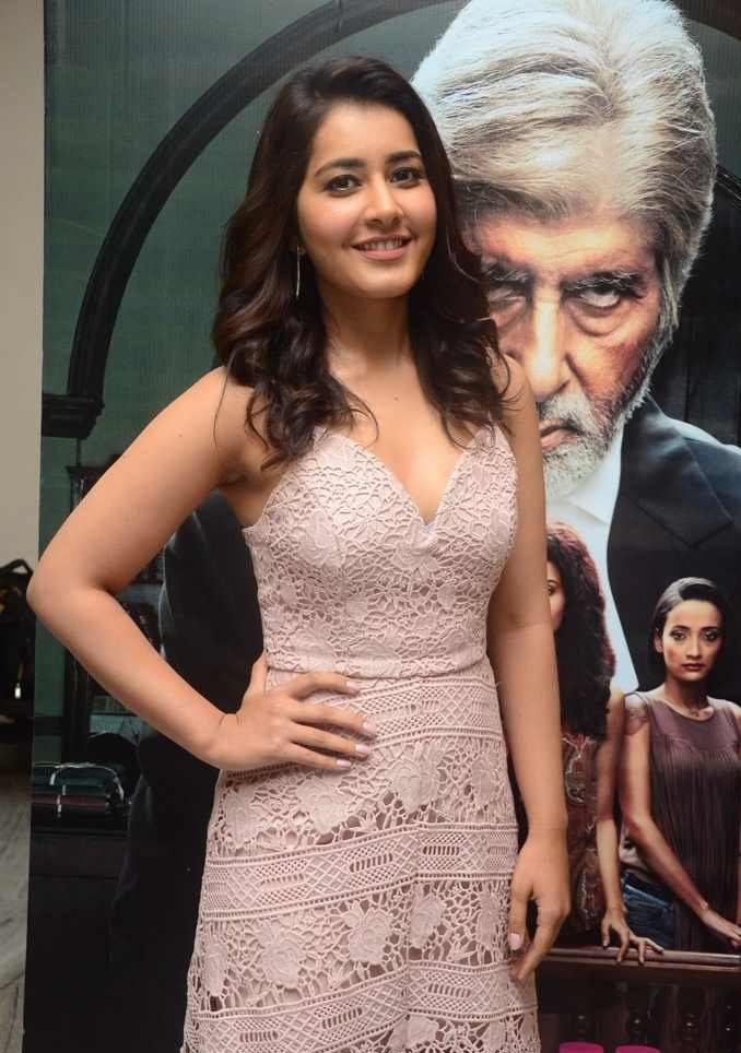 South Indian Actress Rashi Khanna Photos At Pink Movie Premier Show