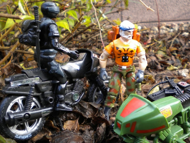 European Tiger Force Outback, Funskool Streethawk, 1985 Snake Eyes, Z Cycle, Action Force