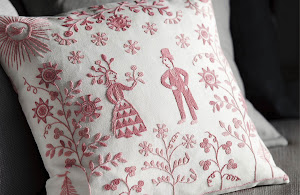 Kurbits on embroidery for festive occasions and holidays.