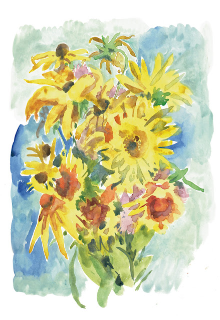 art prints - Yellow bouquet