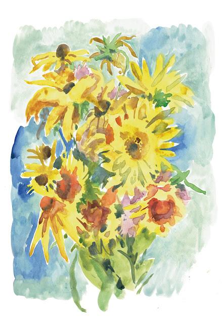 art prints - Yellow bouquet
