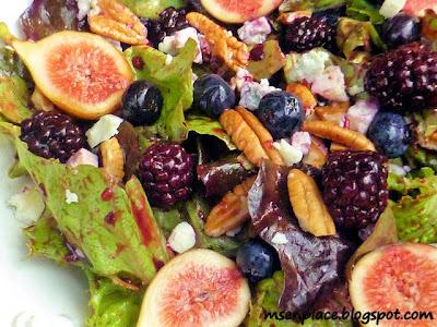 Summer Salad w/ Blackberry Thyme Vinaigrette