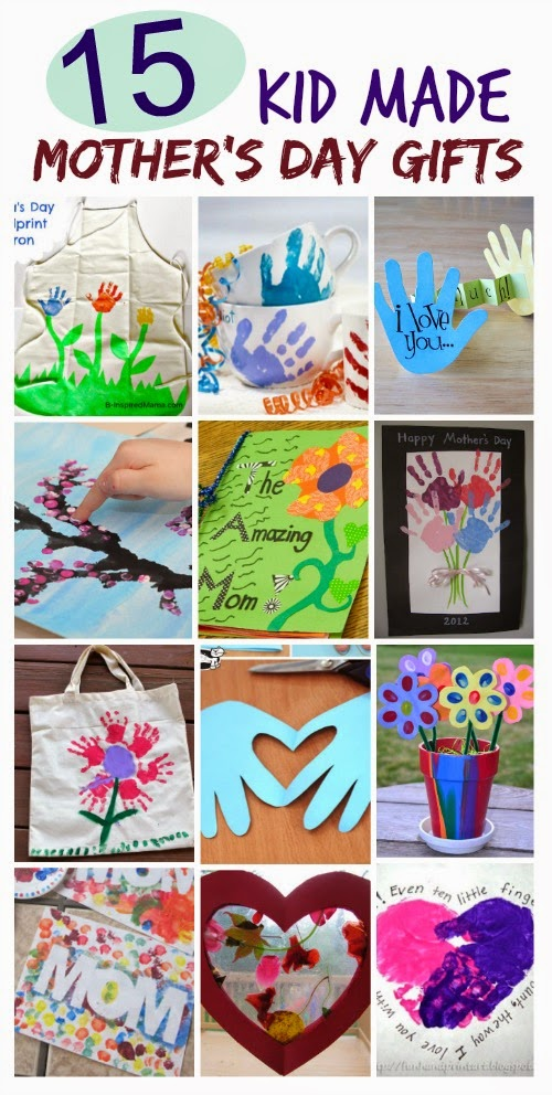 15 Mother's Day Crafts Kids Can Make- such cute ideas!