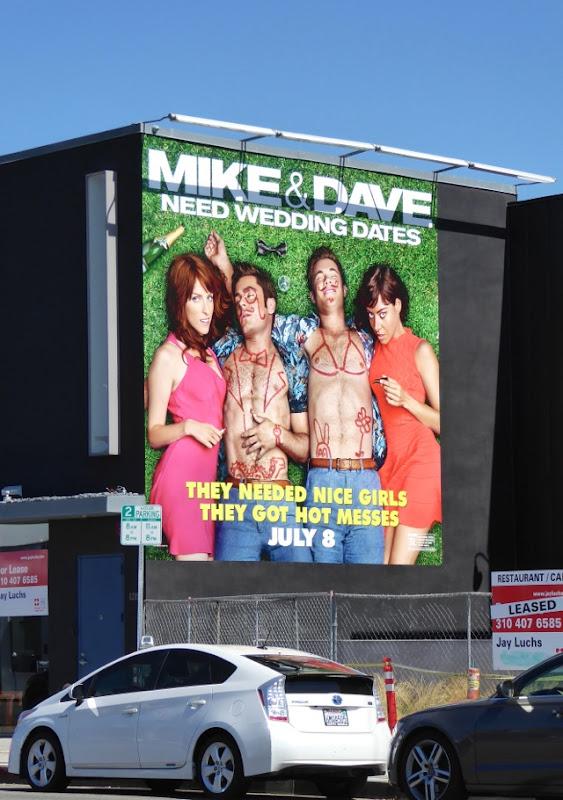 Mike Dave Need Wedding Dates movie billboard