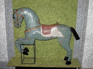 Antigo Cavalo de Brinquedo no Museo de la Cidad, Buenos Aires